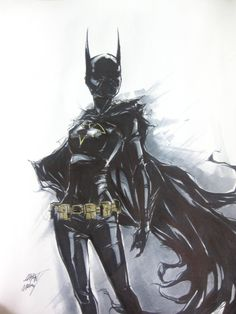 Cassandra Cain ink by AaronNSN.deviantart.com on @deviantART #geek #dccomics #blackbat