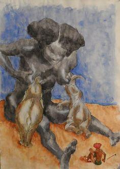 matières, couleurs et formes ...: Heinrich KLEY, copie d'après un dessin au crayon