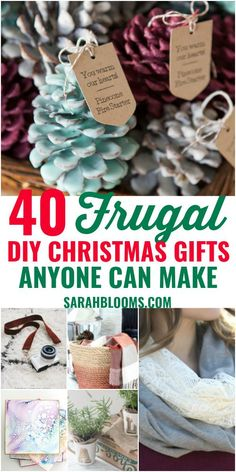 These Easy + Inexpensive DIY Christmas Gifts are sure to please everyone on your list! Check out these Easy + Frugal DIY Christmas Gifts that don't look cheap! christmas gifts 40 DIY Gifts Perfect for Any Occasion - Sarah Blooms Inexpensive Christmas Gifts, Diy Christmas Gifts For Family, Handmade Christmas Gifts, Diy Homemade Christmas Gifts, Diy Christmas Gifts For Men, Meaningful Christmas Gifts, Thoughtful Christmas Gifts, Christmas On A Budget, Christmas Holidays