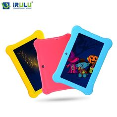 """iRULU Y1 7"""" Quad Core Android BabyPad For Kids Education Tablet PC for Children Dual Cam 8GB"""