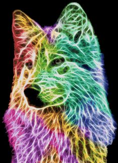 Counted Cross Stitch Pattern Fractal Wolf Wolf Fractal by dueamici