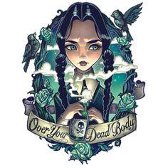 Love it! Wednesday Addams tattoo idea