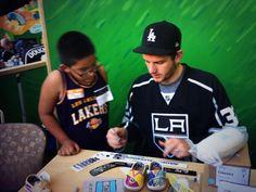 #LAKings' Quick visiting Children's Hospital LA
