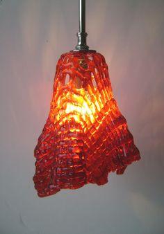 Woven Glass Pendant Light | Designer Glass Mosaics | Designer Glass Mosaics