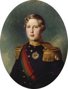 Infante D. Luis, mais tarde Rei D. Luís I, portando a placa e a banda das três ordens, 1854