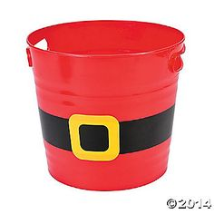 Santa Buckets to put Christmas eve package in