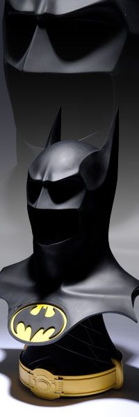 The batman cowl from the Tim Burton film is for sale.