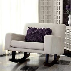 Isn't this the perfect size for two? - neat rocker but i think i'd like some leg support
