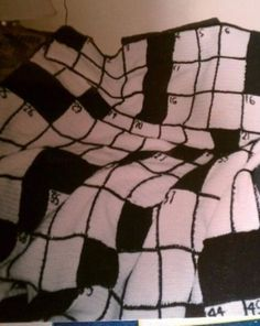 crossword crochet blanket..