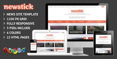Newstick Responsive News / Magazine Template  -  https://themekeeper.com/item/site-templates/newstick-news-magazine-template