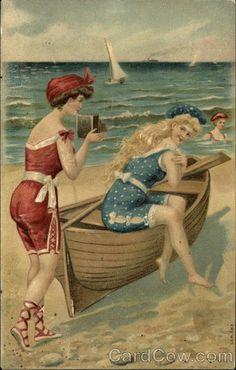 Three Women on the Beach Series 583