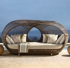 Spartan Daybed by Neoteric Luxury contemporary patio furniture and outdoor furniture