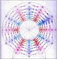 Age 12 ~ Geometric Drawing ~ Double Turning Nesting Hexagons ~ main lesson book
