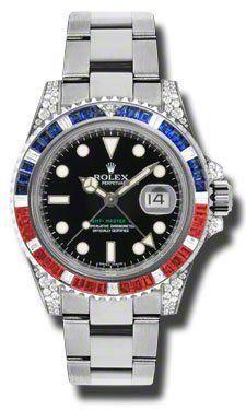 Rolex GMT Master II Black Automatic 18kt White Gold Oyster Mens Watch 116759BKSARU By Rolex