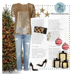 """""""#122517"""" by bonitasepoderosas on Polyvore featuring National Tree Company, Charlotte Olympia, Current/Elliott, P.A.R.O.S.H. and Rolex"""