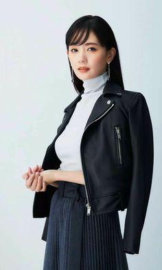 Woman Face, Leather Fashion, Yuri, Hooded Jacket, Athletic, Japanese, Actresses, Jackets, Models
