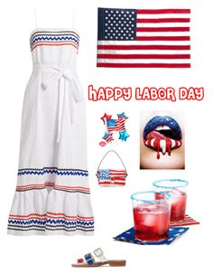 """Happy Labor Day"" by kotnourka ❤ liked on Polyvore featuring Lisa Marie Fernandez, Evergreen Enterprises, MR by Man Repeller and Marc Jacobs"