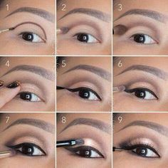 6 tutos make up inédits pour mettre vos yeux en valeur : Soft, rose gold, smokey eye tutorial. Good for hooded eyelids or monolids on Asian eyes. Products and instructions in the link. Contour Makeup, Eye Makeup Tips, Makeup Hacks, Skin Makeup, Makeup Products, Makeup Ideas, Makeup Tutorials, Makeup Brushes, Eyeliner Ideas