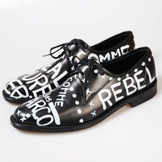 my COMME des GARCONS Black Graffiti Shoes - :-))))