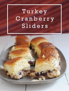Quick and easy turkey cranberry sliders to use up your Thanksgiving leftovers. Leftover Turkey Recipes, Beef Recipes For Dinner, Wrap Recipes, Gourmet Recipes, Snack Recipes, Yummy Recipes, Chicken Recipes, Ham And Cabbage Soup, Thanksgiving Leftovers