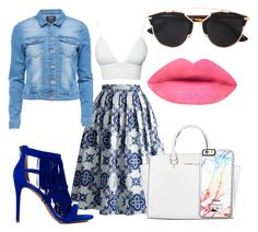"""Refreshing Blue"" by cute2stykish ❤ liked on Polyvore featuring Chicwish, Club L, Michael Kors, Steve Madden, Christian Dior and Free People"