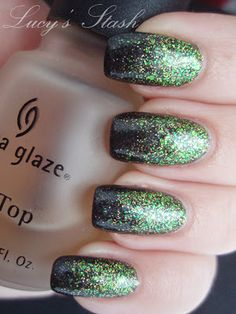 green to black gradient.  Sinful Call You Later over Misa Wishing on a Star