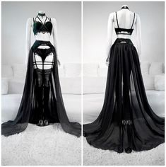 Edgy Outfits, Pretty Outfits, Pretty Dresses, Beautiful Dresses, Fashion Outfits, Lingerie Outfits, Women Lingerie, Gothic Lingerie, Lingerie Dress
