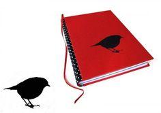 Notebook bird, A5, handmade