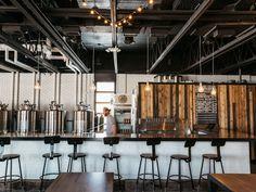 Restaurant Space in the Metropolitan; Oktoberfest at Batch Brewing Brewery Decor, Brewery Interior, Brewery Restaurant, Brewery Design, Pub Design, Truck Design, Nano Brewery, Beer Brewery, Kombucha