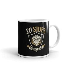 Whether youre drinking your morning coffee, evening tea, or something in between – this mugs for you! Its sturdy and glossy with a vivid print thatll withstand the microwave and dishwasher. Morning Coffee, Dungeons And Dragons, Microwave, Dishwasher, Drinking, Ceramics, Tableware, Etsy, Products