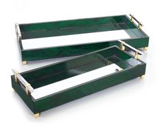 Designer Mirrored Malachite Dressing table Trays, at InStyle Decor Beverly Hills Hollywood Luxury Home Decor Luxury Wedding Gifts, Dressing Table Tray, Luxury Gifts For Women, Serving Tray Decor, Luxury Home Decor, Luxury Interior, Luxury Homes, Interior Exterior, Interior Design
