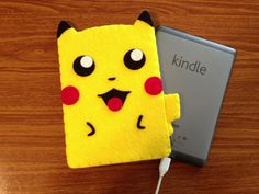 Pikachu Kindle Cozy by lifegeekery on Etsy, $27.00
