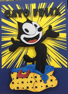 Felix, the Cat - Paper Sculpture by Vlady and Helena Keiko - Exposição Cartoon Journey in Paper
