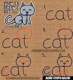 Hoe teken je een kat