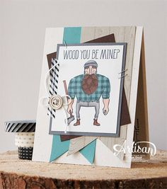Wood You be Mine? Stampin' Cards and Memories: Stampin'UP! Artisan Bloghop