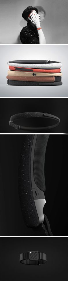 The R/M AI System is a different type of wearable tech that aims to train your body and mind to stay in rhythm for a variety of applications. The design consist of a headband and wristband equipped with highly sensitive movement sensors that work in tandem with your smartphone app. Let's say you've been traveling and are experiencing jet lag. The system can help you get back into routine by coaching you to stay awake or keep moving until it's the right time to doze off in order to reset.