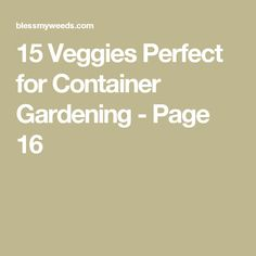 15 Veggies Perfect for Container Gardening - Page 16