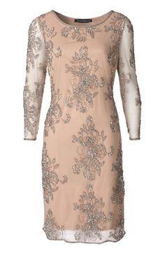 Pisarro Nights Embellished Sheer Sleeve Tulle Dress   Nordstrom