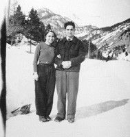 Ada and Paolo Gobetti traverse the Alps to the hill dell'Orso to make contact with the French Resistance Pian dell'Orso, Winter 1944-45