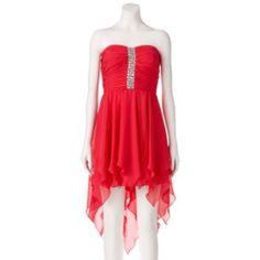 Lily Rose Beaded Handkerchief Dress - Juniors