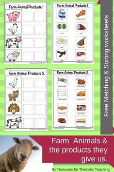 farm animals and their food animals worksheet farm mini book farm animals this reading a z. Black Bedroom Furniture Sets. Home Design Ideas