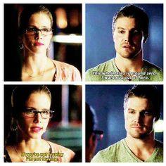 Arrow - Oliver & Felicity #Season1 #Olicity Stephen Amell. Emily Bett Rickards.