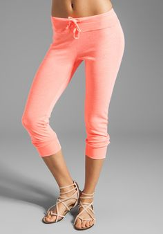 Splendid Slub Active Sweatpants in Neon Coral LOVE THESE ON THE MODEL BUT IN PERSON THE MATERIAL IS VERY FLIMSY COLOUR IS BEAUTIFUL THOUGH