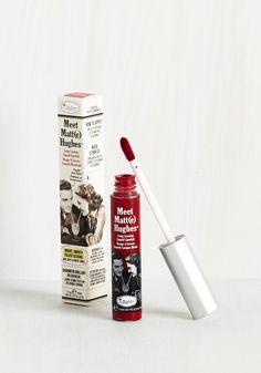 In No Time Matte Liquid Lipstick in Dark Red, #ModCloth