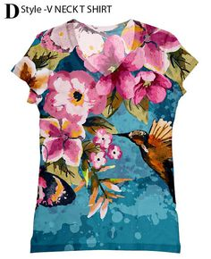 Hey, I found this really awesome Etsy listing at https://www.etsy.com/listing/160949229/woman-flower-print-top-t-shirt-and