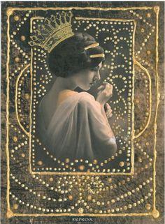 Empress - The Silent Tarot --  If you love Tarot, visit me at www.WhiteRabbitTarot.com