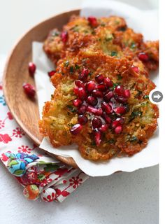 Mmm, Latkes (pomegranate latkes in this case). Not always simple but a favourite holiday side dish.