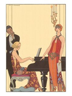 Woman Playing Piano, 1922 Giclee Print
