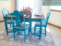 25 Bold and Colorful Painted Furniture Projects - The Happy Housie