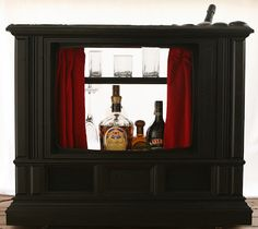 Old TV Converted to Bar...Awesome